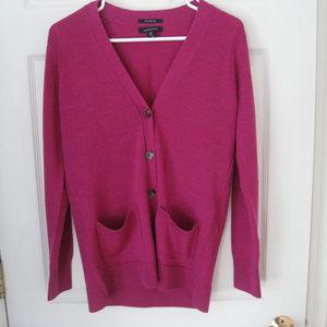 Women's Lands' End Pink Cardigan Sweater XS